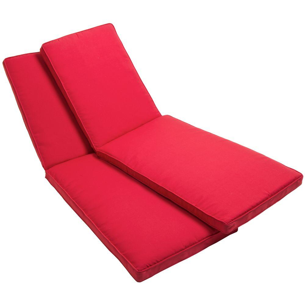RST Brands Cantina Red Patio Lounger Cushion (2-Pack)