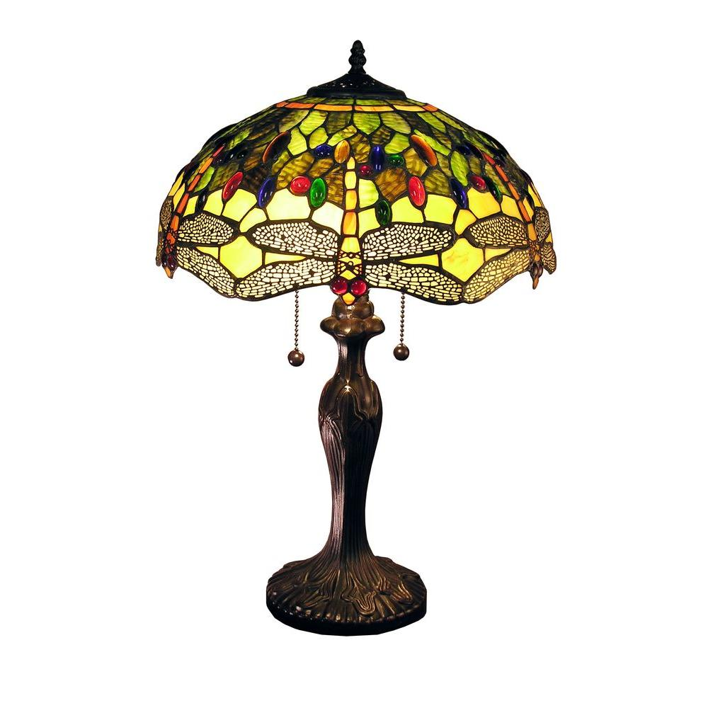 Warehouse of Tiffany Jadyn 24 in. Bronze Indoor Table Lamp with