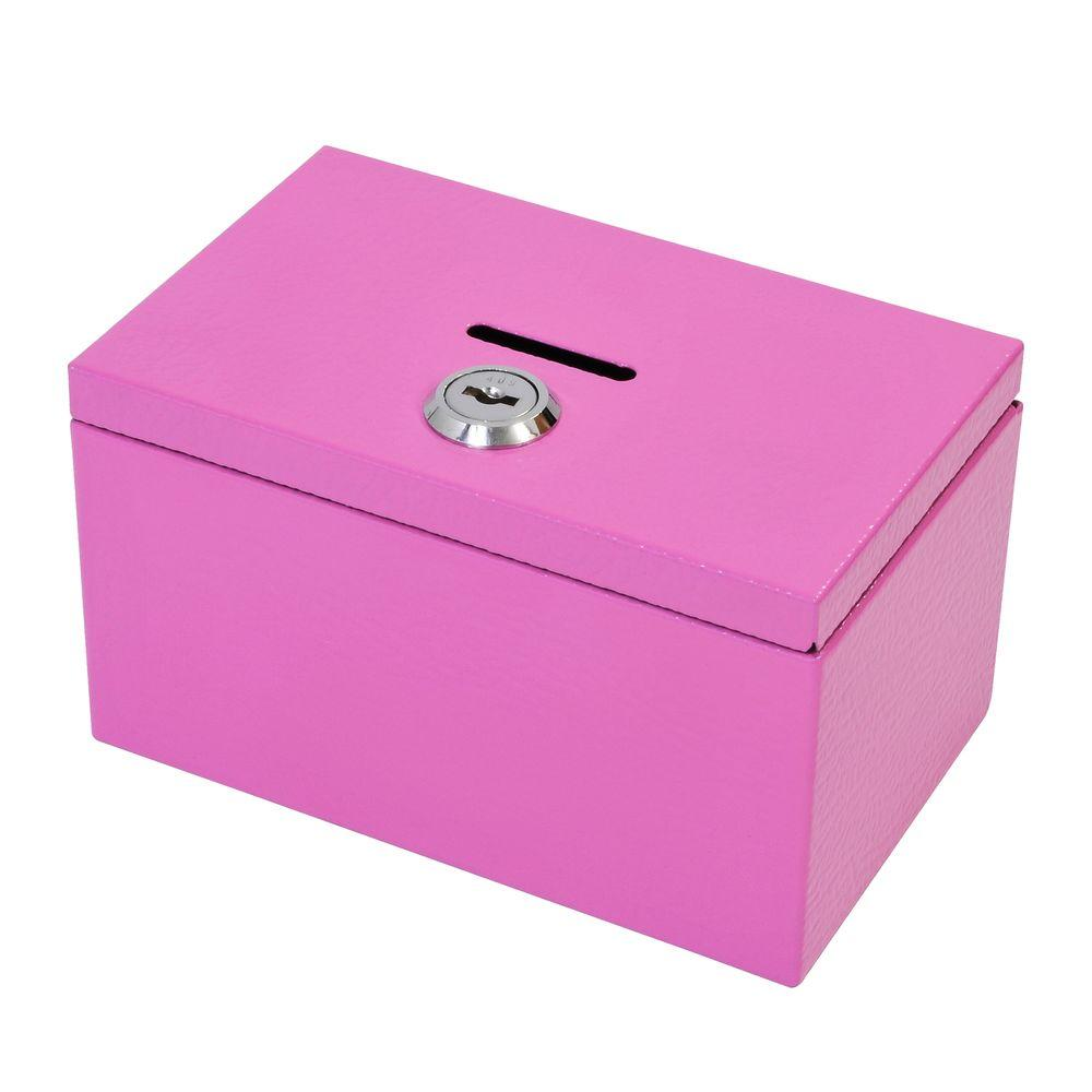Stamp and Coin Box in Pink