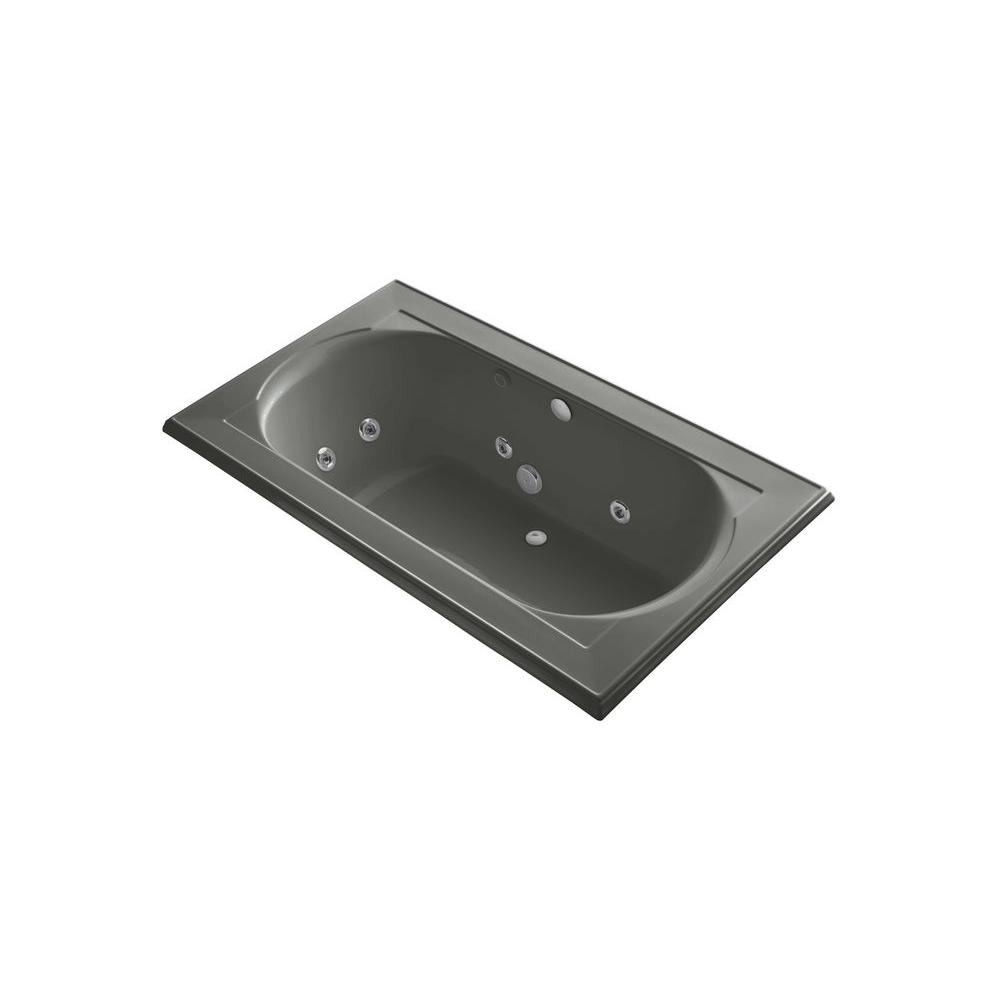 KOHLER Memoirs 6 ft. Whirlpool Tub in Thunder Grey-DISCONTINUED