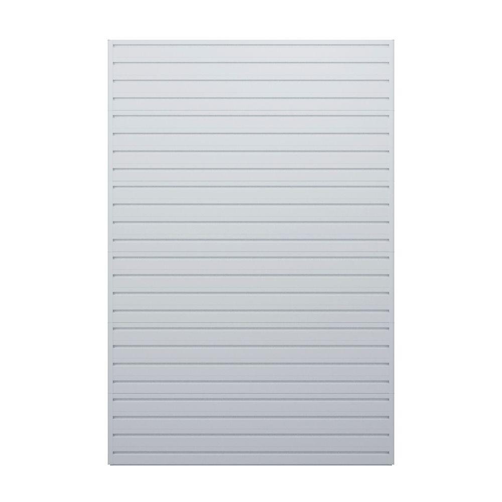 Flow Wall 72 in. H x 48 in. W White Wall Storage Panels