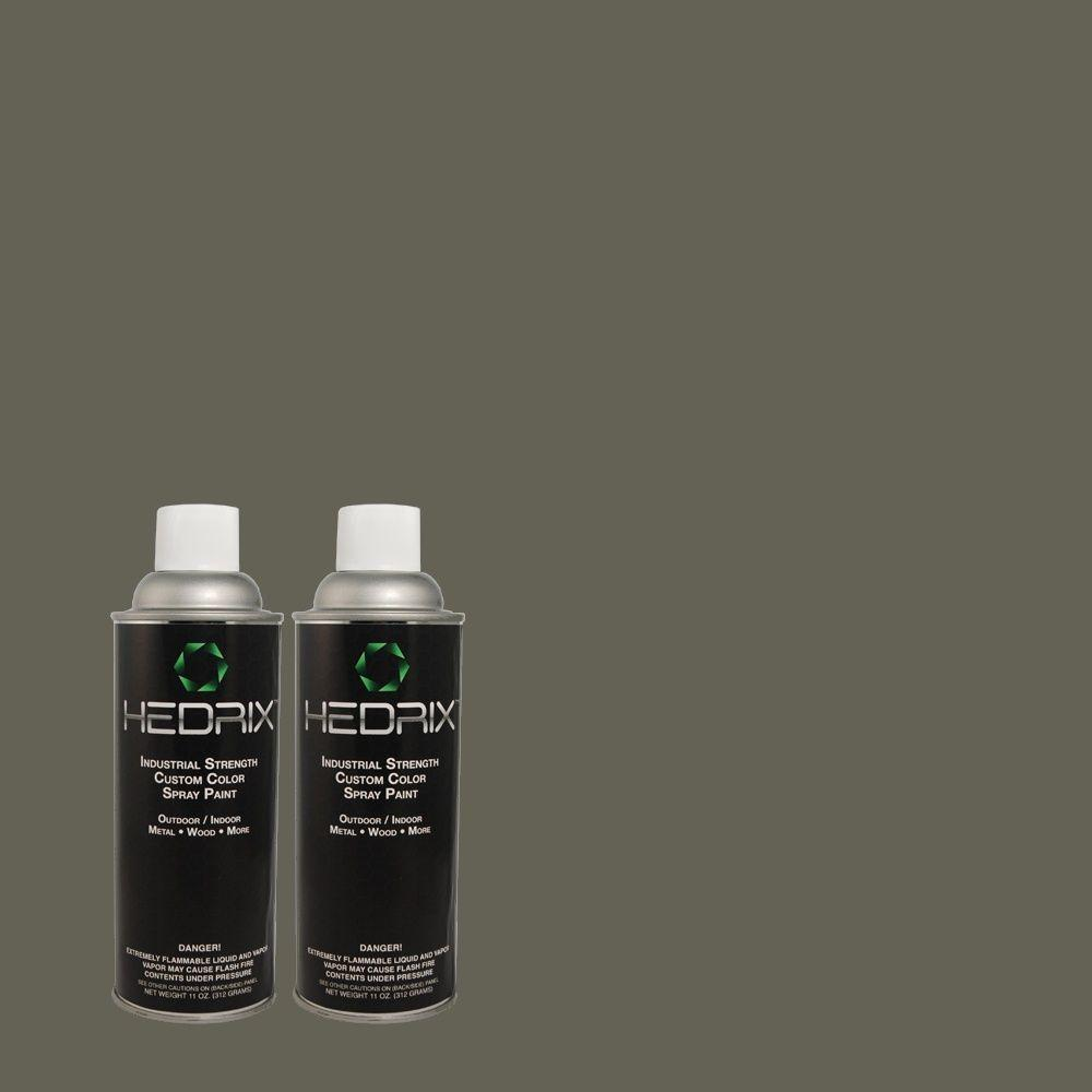 Hedrix 11 oz. Match of 3B55-6 Green Darkness Low Lustre Custom Spray Paint (2-Pack)