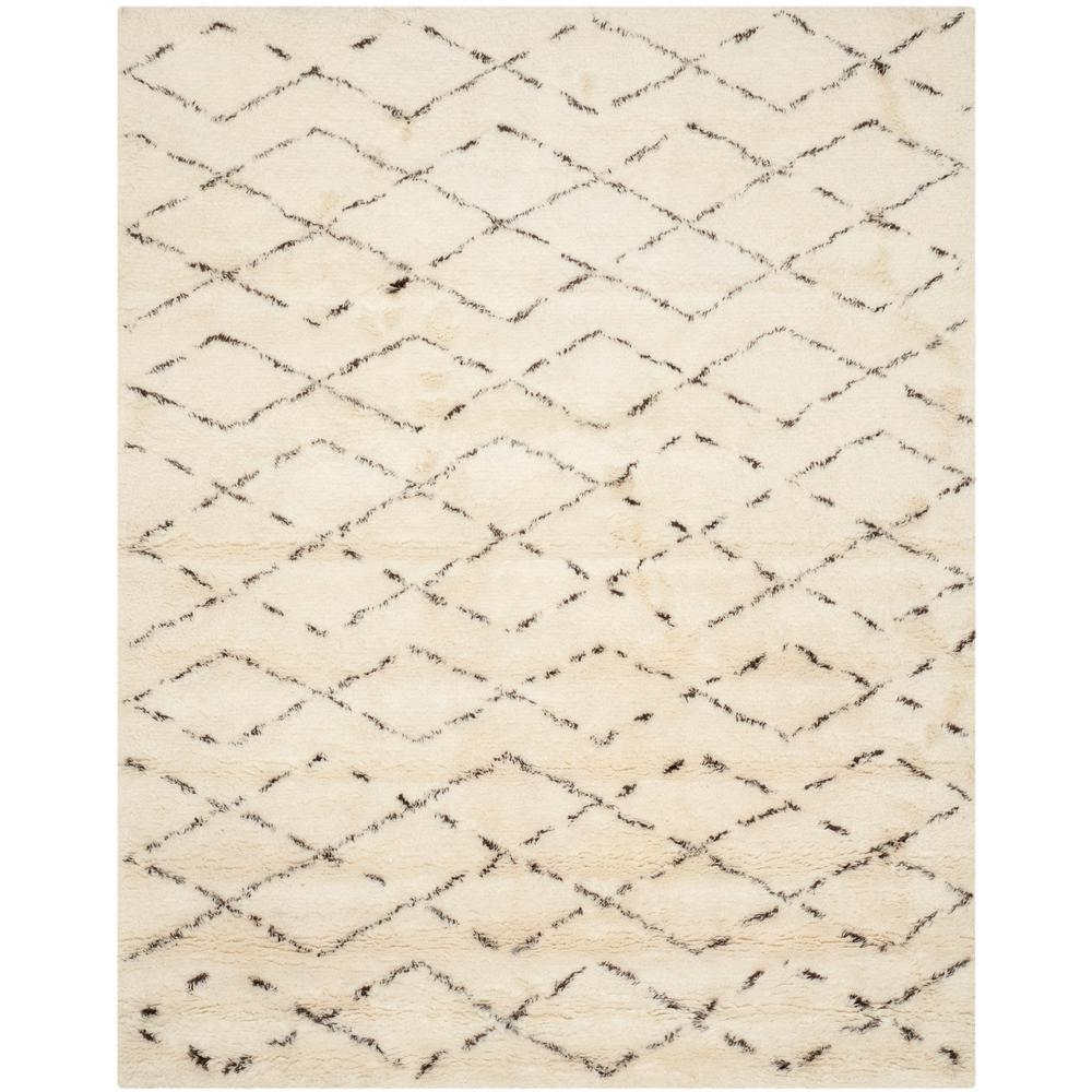 Casablanca Ivory/Brown 9 ft. x 12 ft. Area Rug