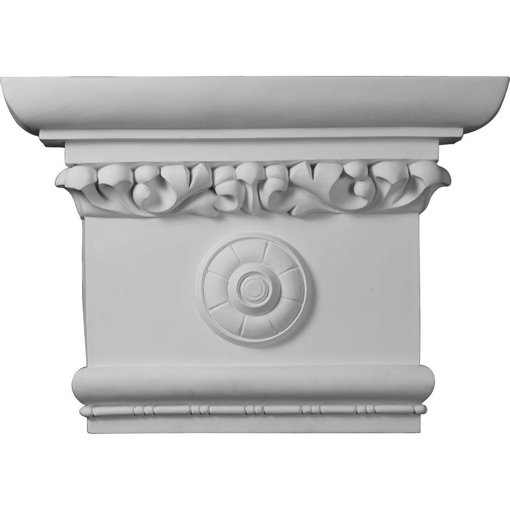 6 in. x 24 in. x 16-1/2 in. Primed Polyurethane Victorian