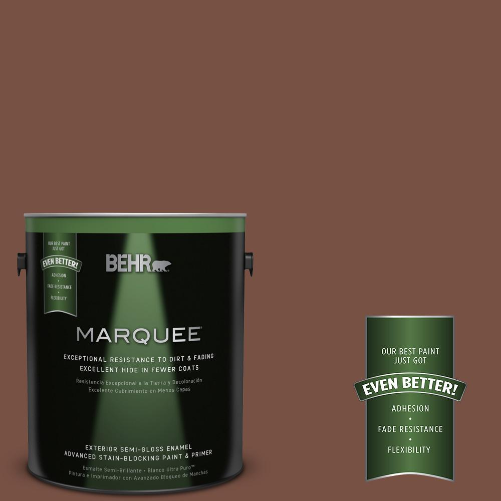 1-gal. #S190-7 Toasted Pecan Semi-Gloss Enamel Exterior Paint