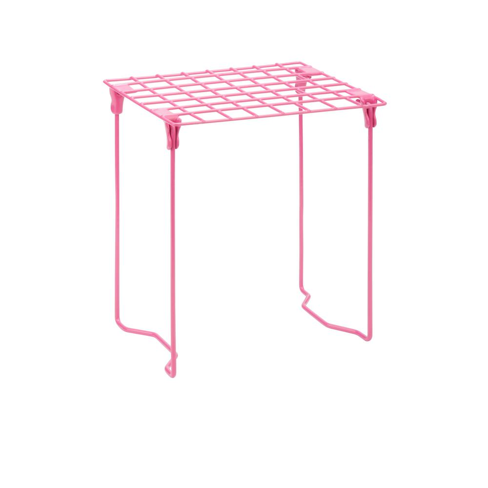 Honey-Can-Do Excessory Locker Shelf in Pink-BTS-06608 - The Home Depot