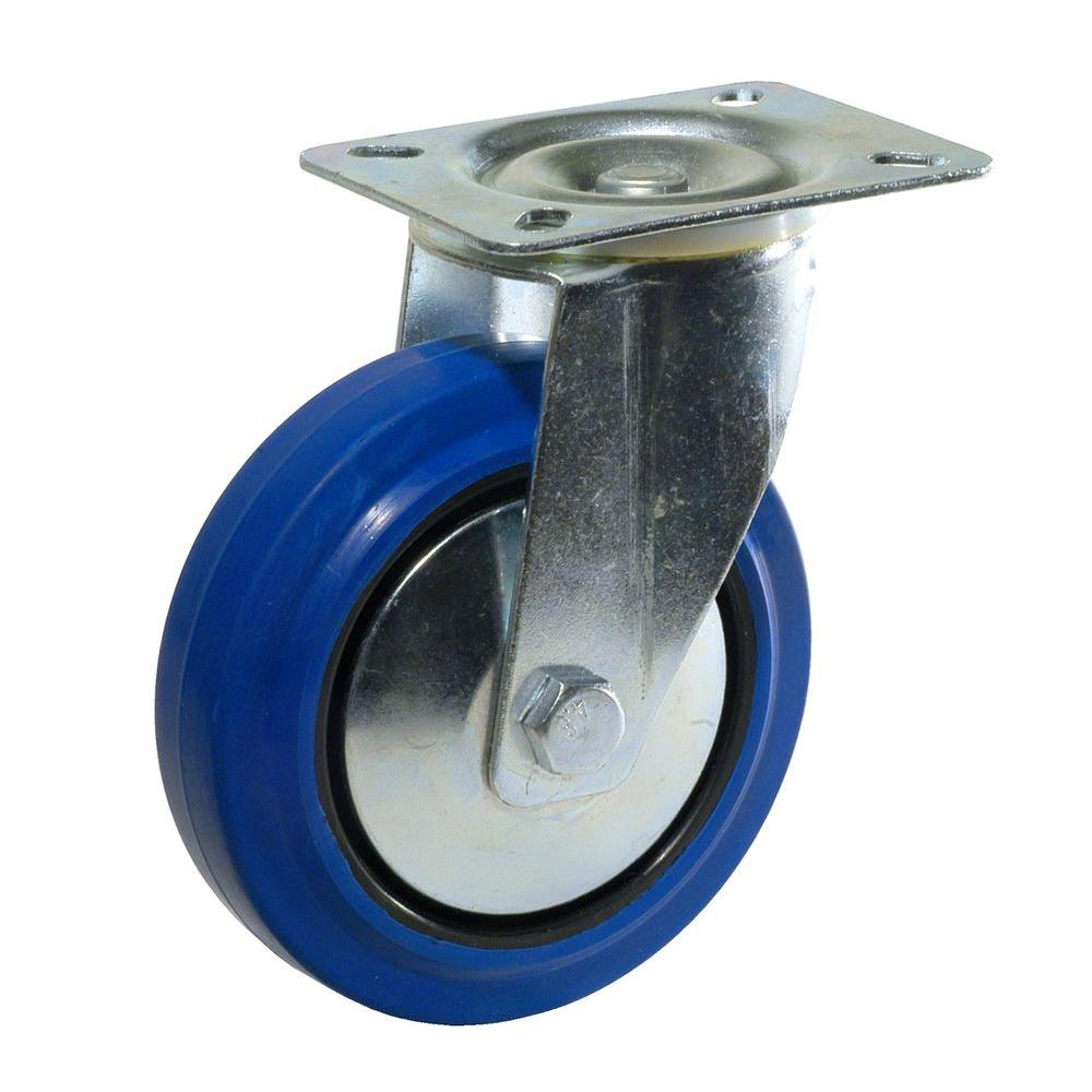 Richelieu Hardware 4 in. Heavy-Duty Blue Elastic Rubber Swivel Caster-F08335 -