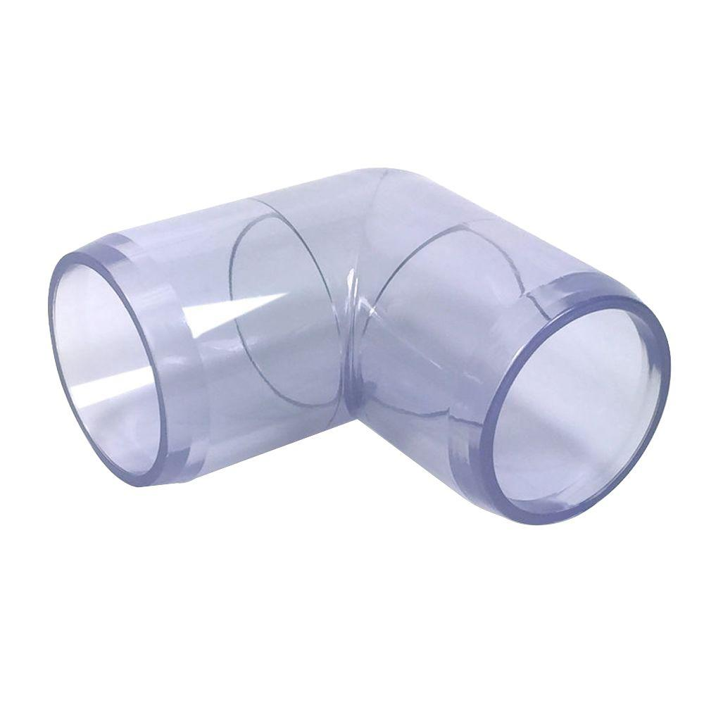 1 in. Furniture Grade PVC 90-Degree Elbow in Clear