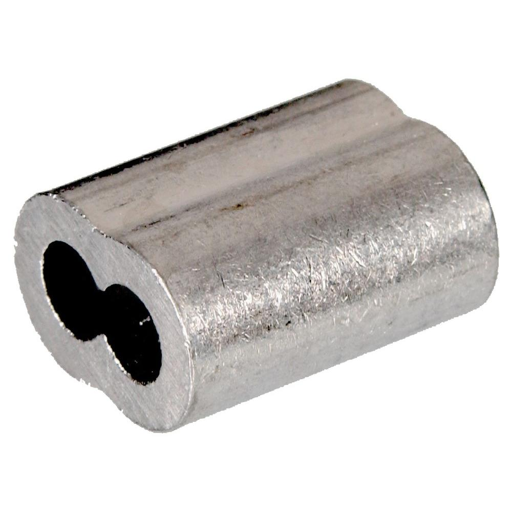 The Hillman Group 5/32 in. Cable Ferrule in Aluminum (50-Pack)
