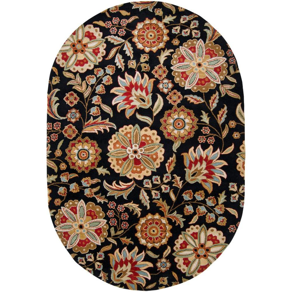 Artistic Weavers Sarah Black 8 ft. x 10 ft. Oval Area Rug