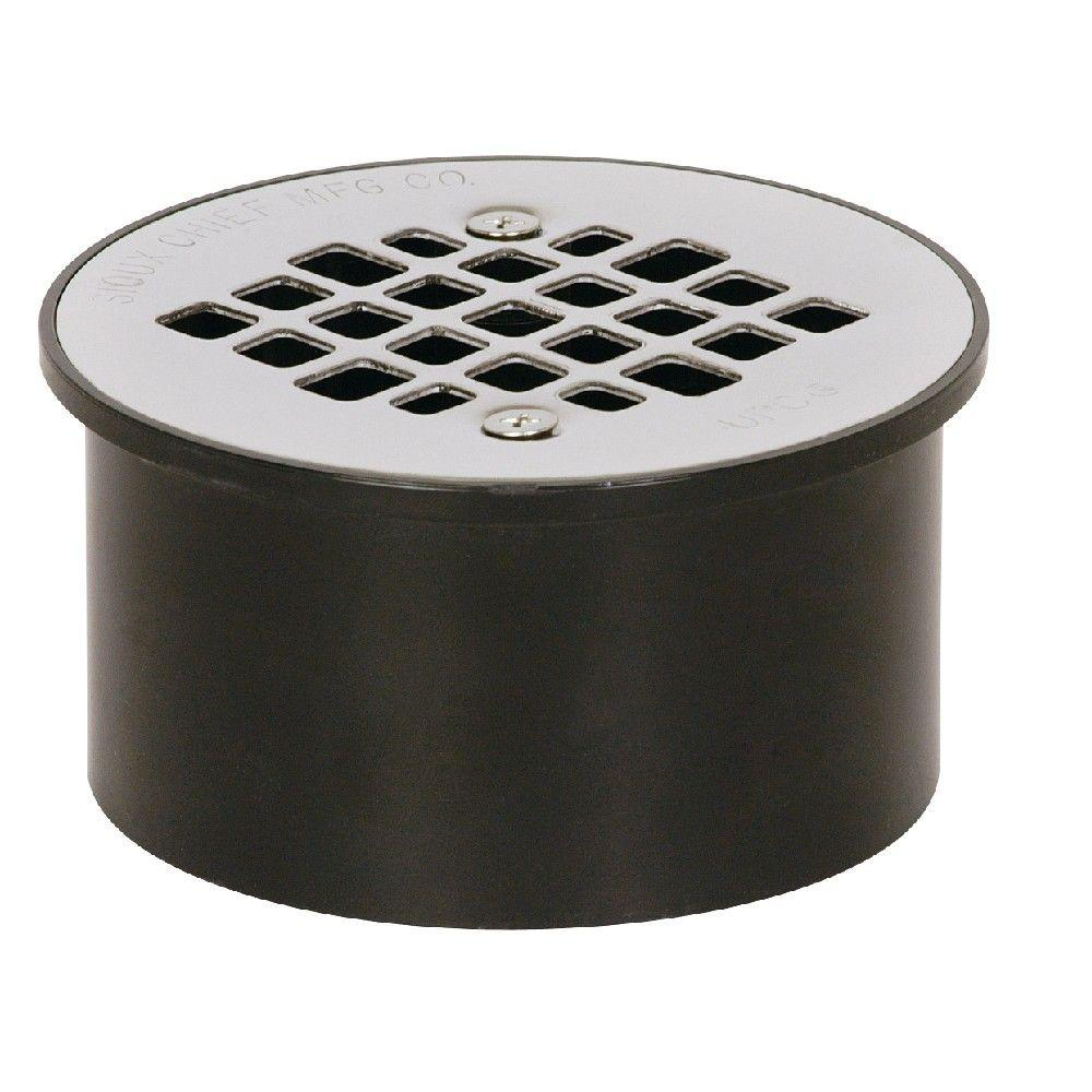 Sioux Chief 3 in. x 4 in. Black ABS Floor Drain