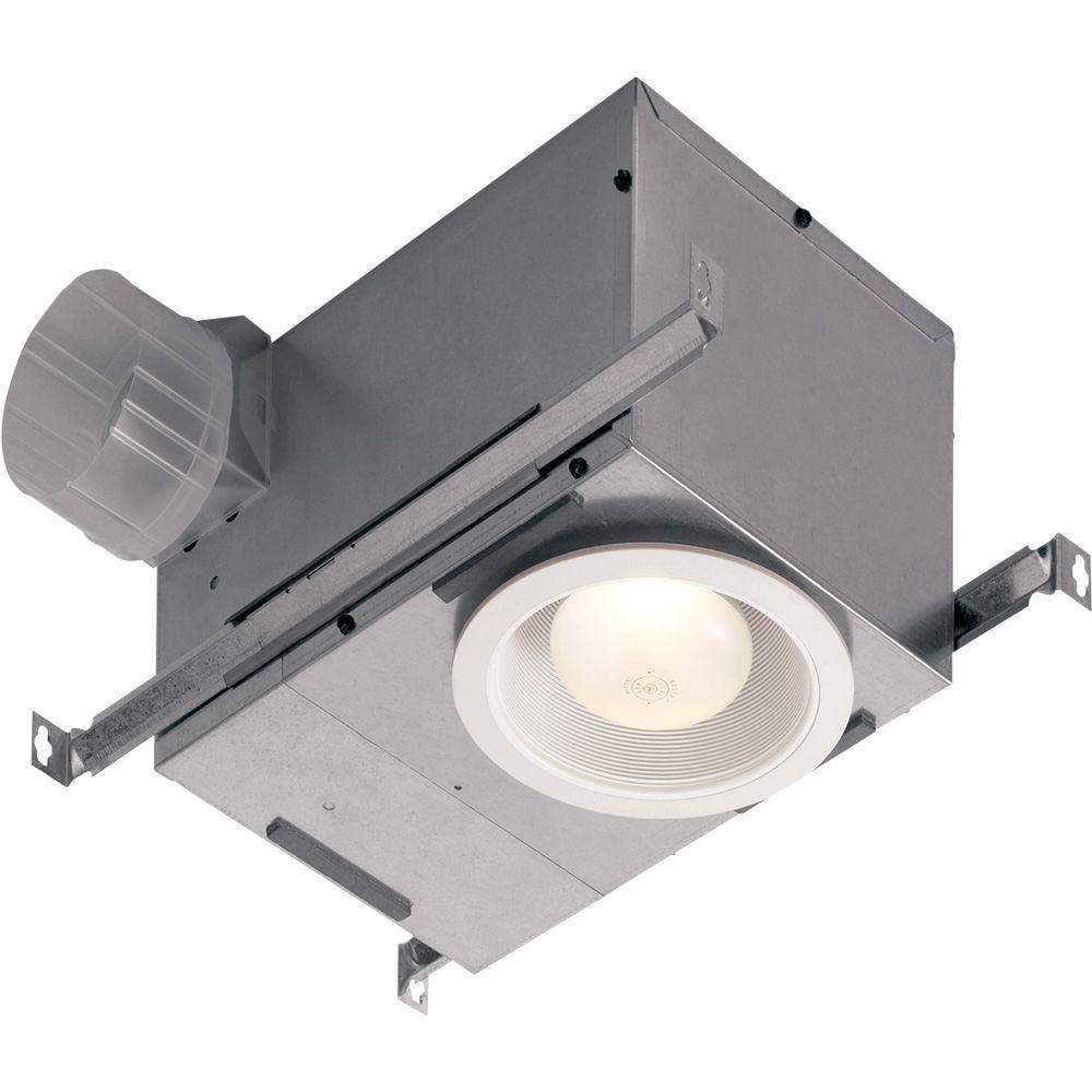 Nutone 70 cfm ceiling exhaust fan with recessed light for Bathroom 9 foot ceiling