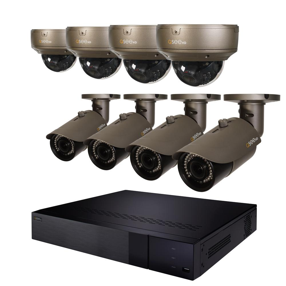 16-Channel 4K 2TB NVR Video Surveillance System with 4-Varifocal 4MP Bullet
