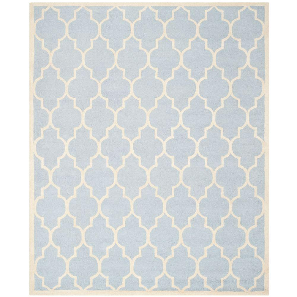 Cambridge Light Blue/Ivory 11 ft. x 15 ft. Area Rug