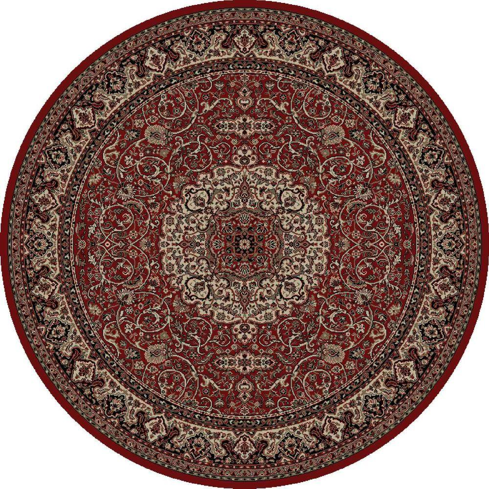 Persian Classics Isfahan Red 7 ft. 10 in. Round Area Rug