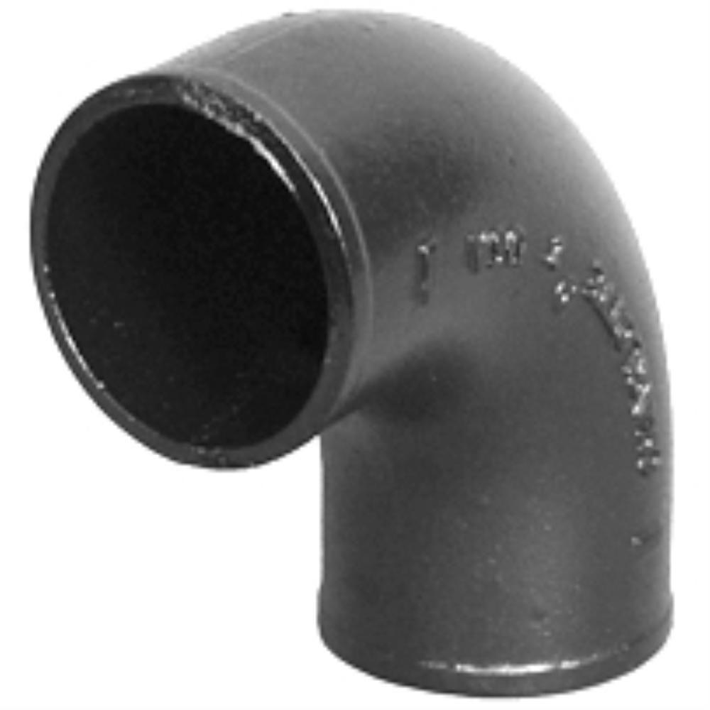 Cast Iron Pipe : Charlotte pipe in cast iron dwv degree no hub elbow