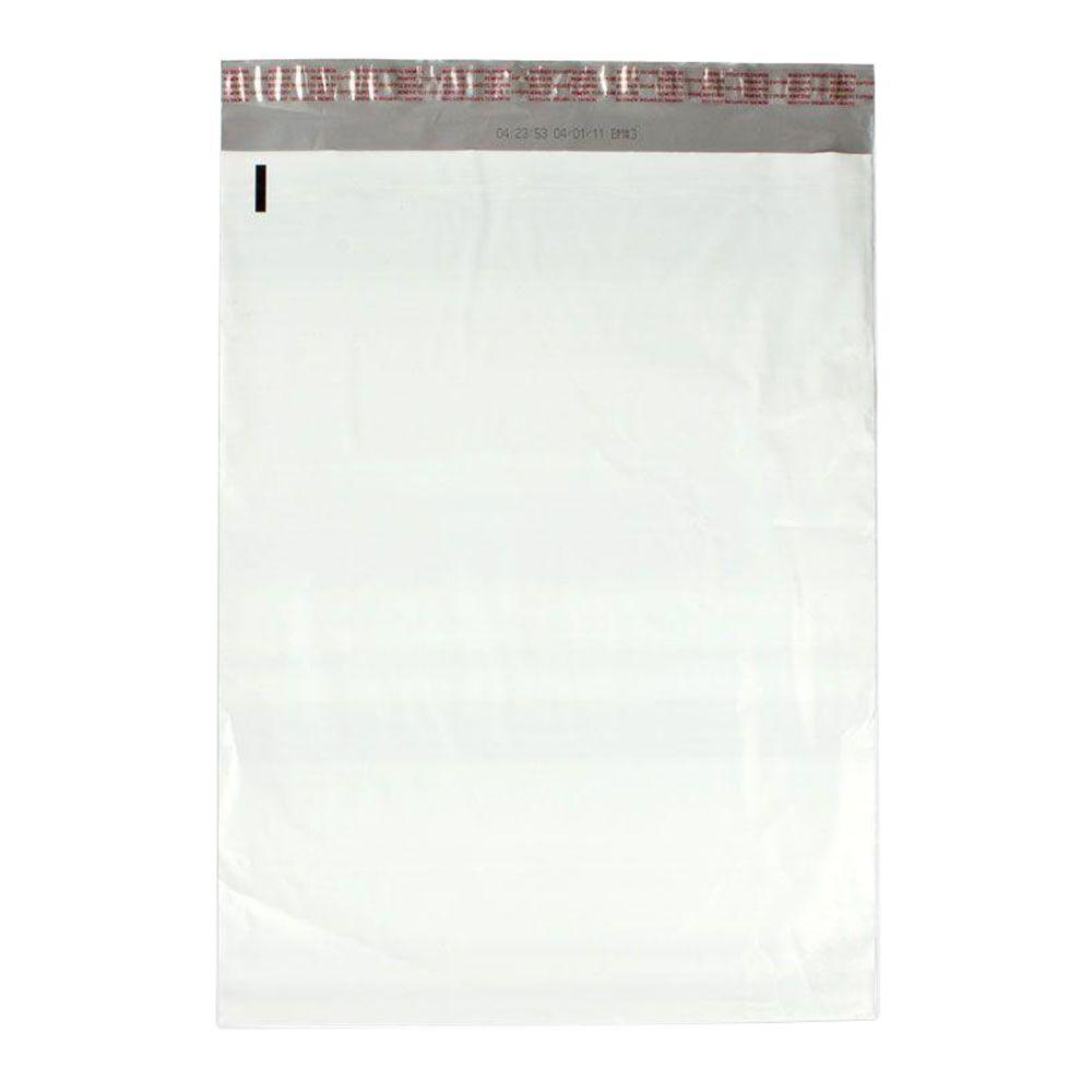 14.5 in. x 19 in. White / Silver Flat Poly Mailers