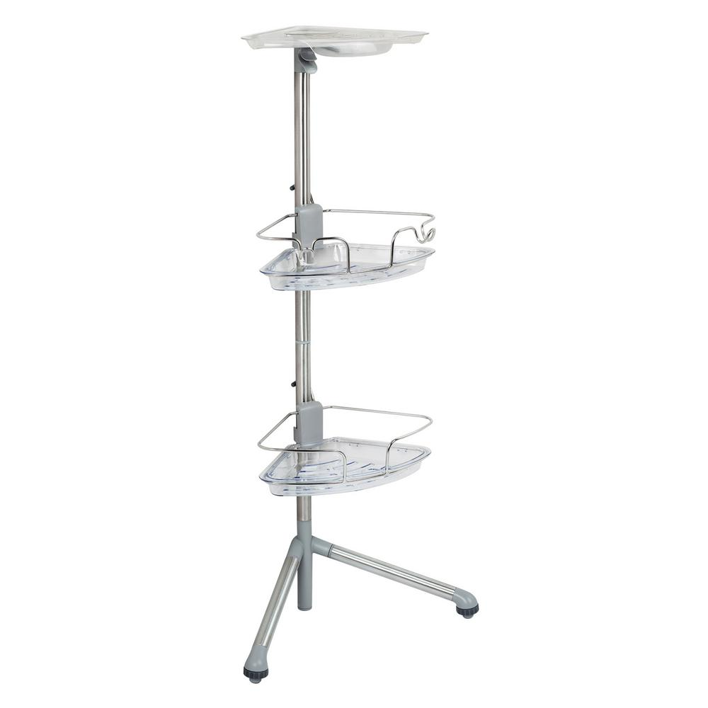 Slide and Lock Standing Caddy in Stainless Steel