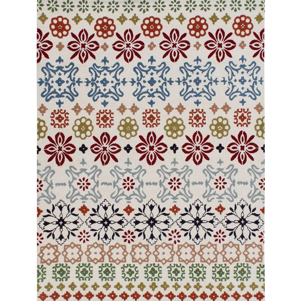 Wyndham Ivory/Multi 8 ft. 9 in. x 12 ft. Area Rug