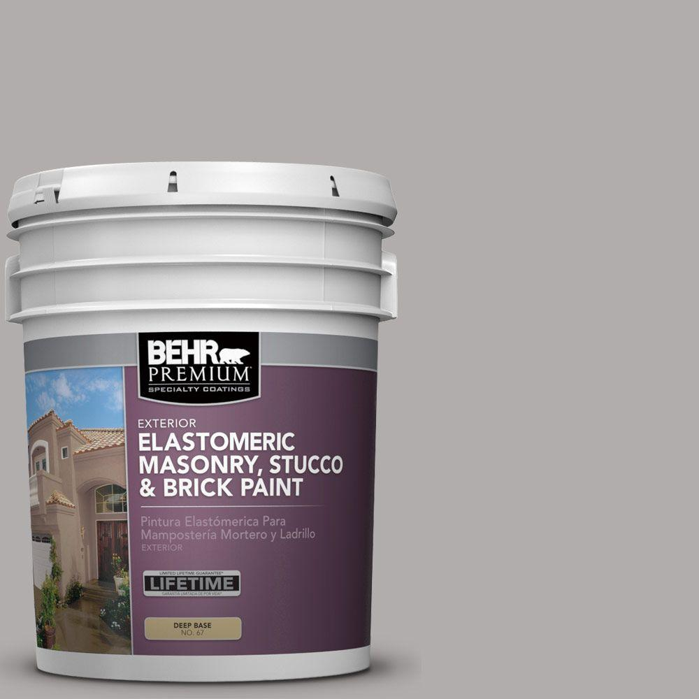 5 gal. #MS-81 Crater Gray Elastomeric Masonry, Stucco and Brick Paint