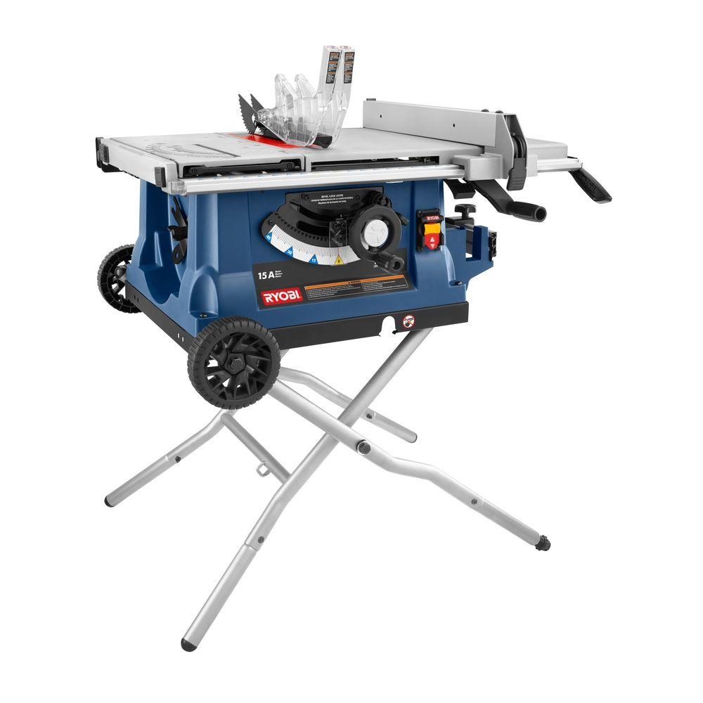 Ryobi 10 in. Table Saw with Wheeled Stand