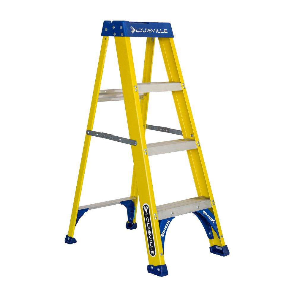 4 ft. Fiberglass Step Ladder with 250 lbs. Load Capacity Type