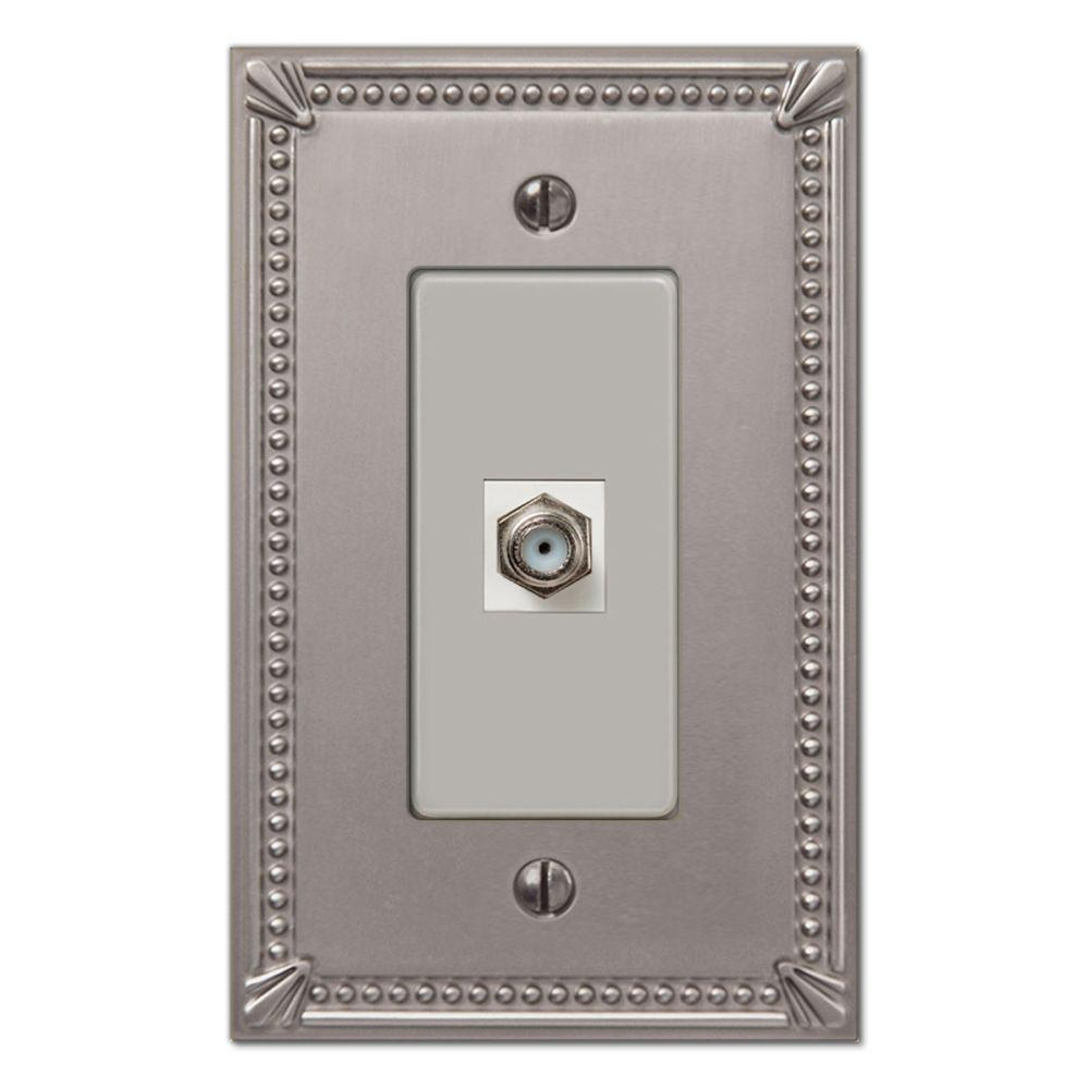 Creative Accents Imperial 1 Video Wall Plate - Brushed Nickel-DISCONTINUED