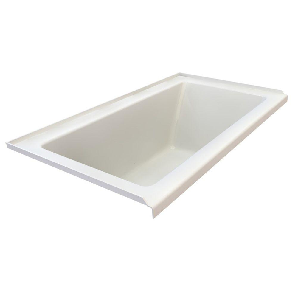 American Standard Studio 5-1/2 ft. x 36 in. Left Drain Bathtub with Integral Tile Flange in White