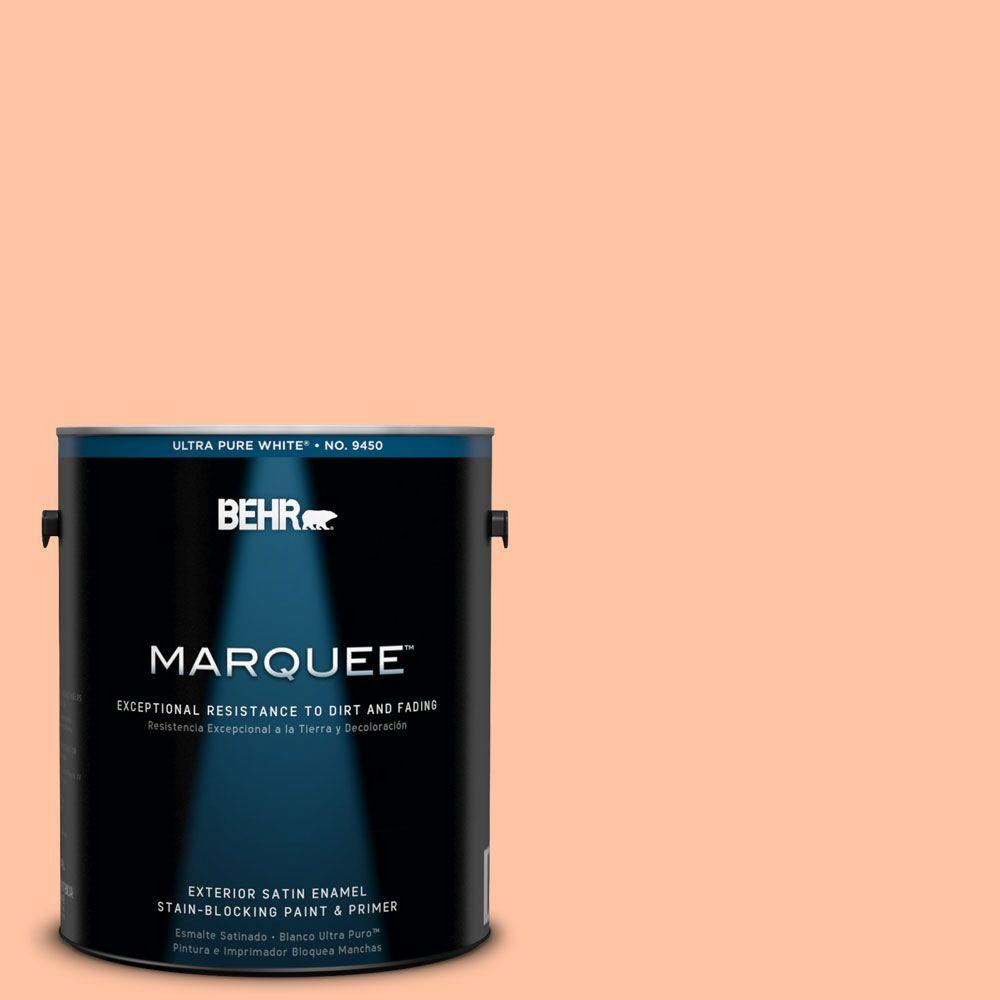 BEHR MARQUEE 1-gal. #240A-3 Bright Citrus Satin Enamel Exterior Paint