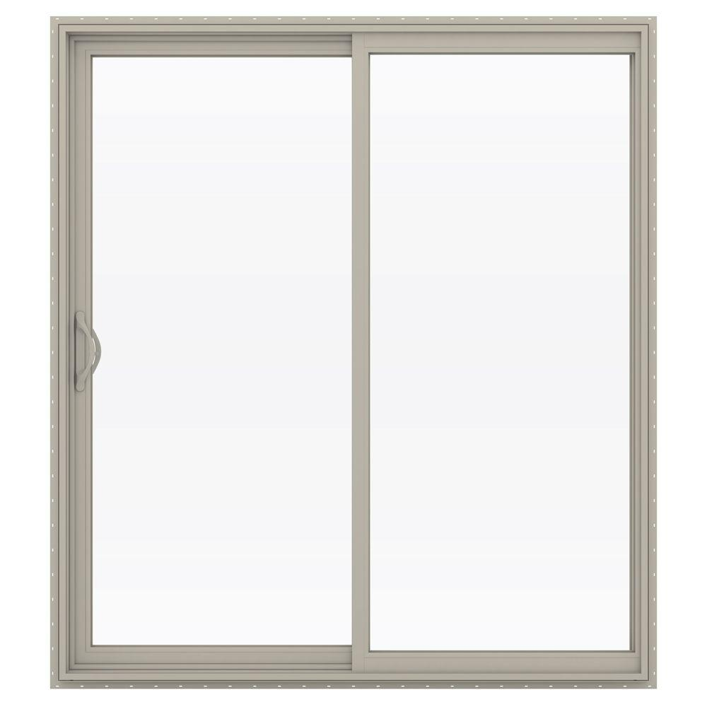 Jeld wen 72 in x 80 in v 2500 series vinyl sliding low e for Sliding glass doors jeld wen