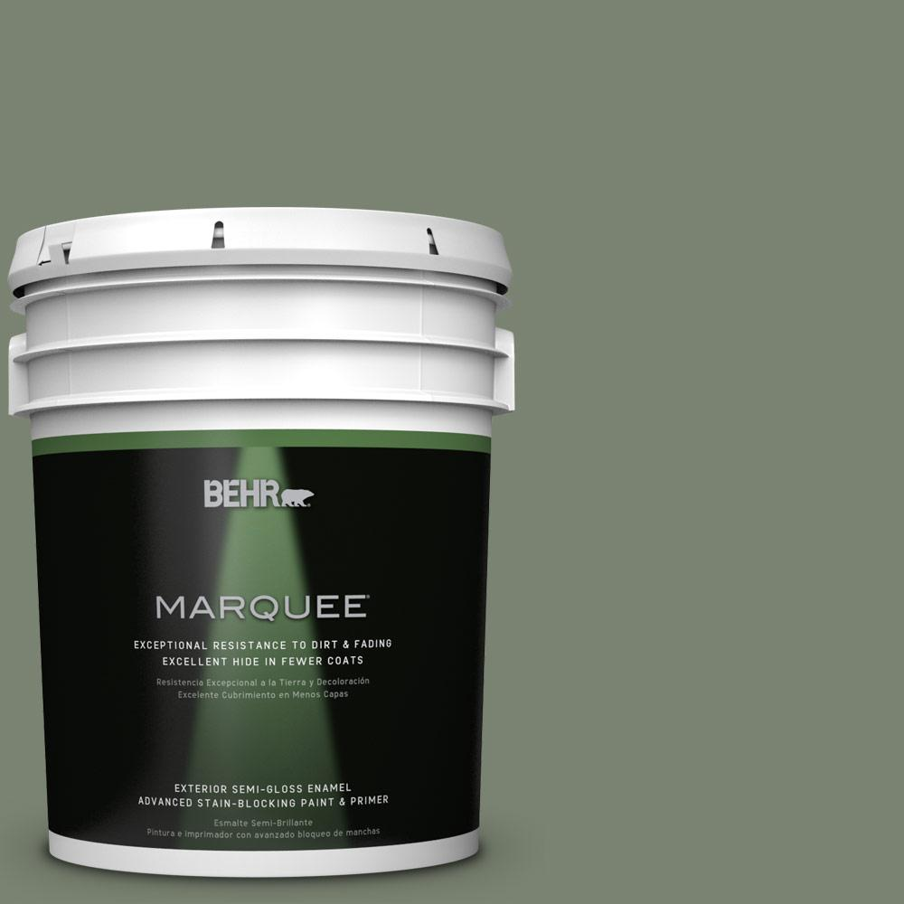 5-gal. #ICC-77 Sage Green Semi-Gloss Enamel Exterior Paint