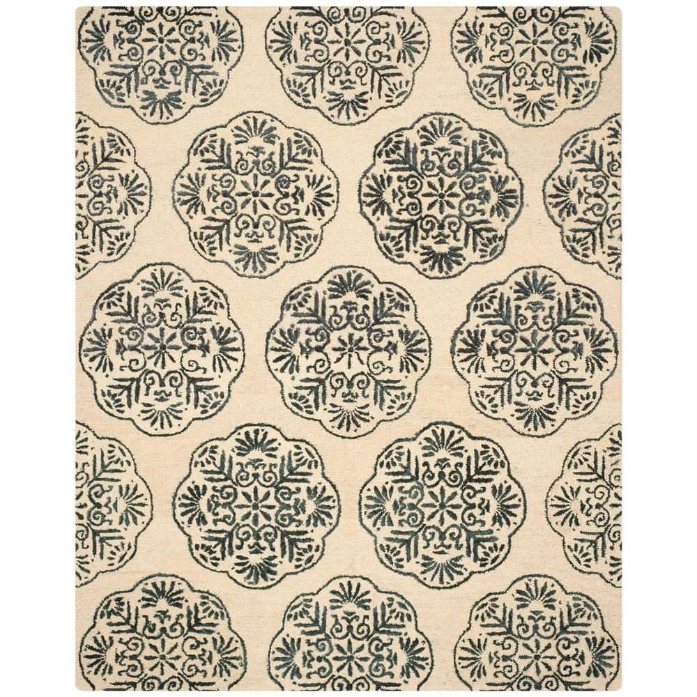 Bella Ivory/Charcoal 8 ft. x 10 ft. Area Rug