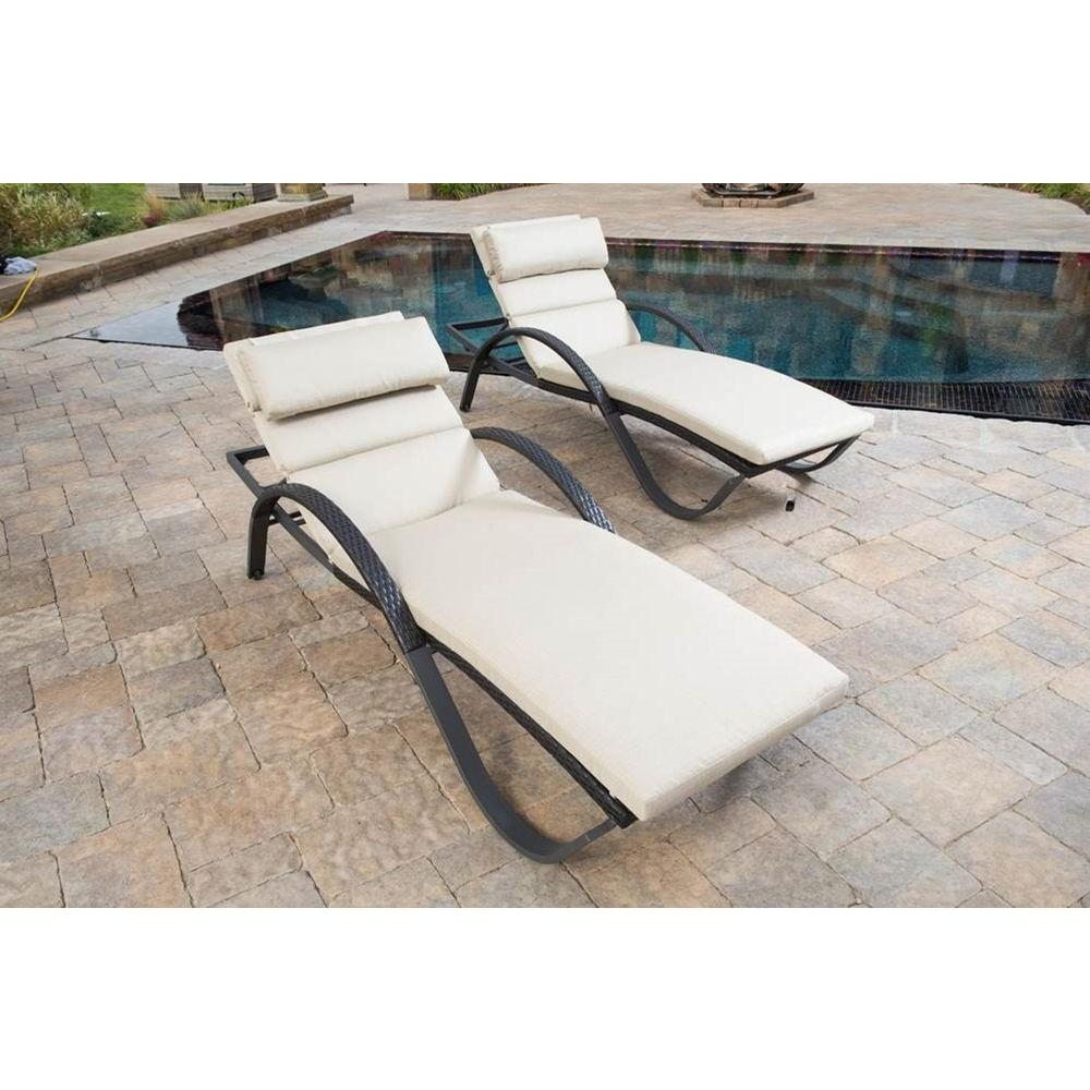 RST Brands Deco Patio Chaise Lounge with Slate Grey Cushion and