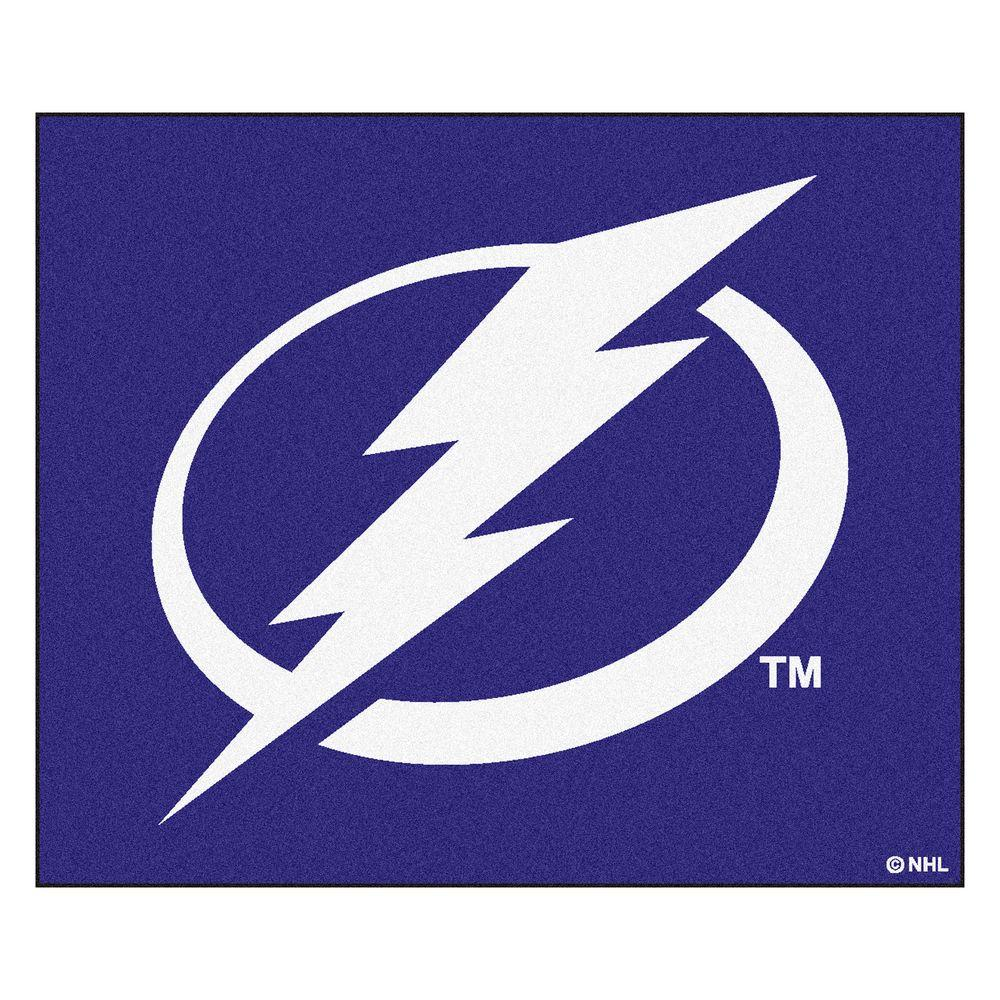 FANMATS Tampa Bay Lightning 5 ft. x 6 ft. Tailgater Rug-10548