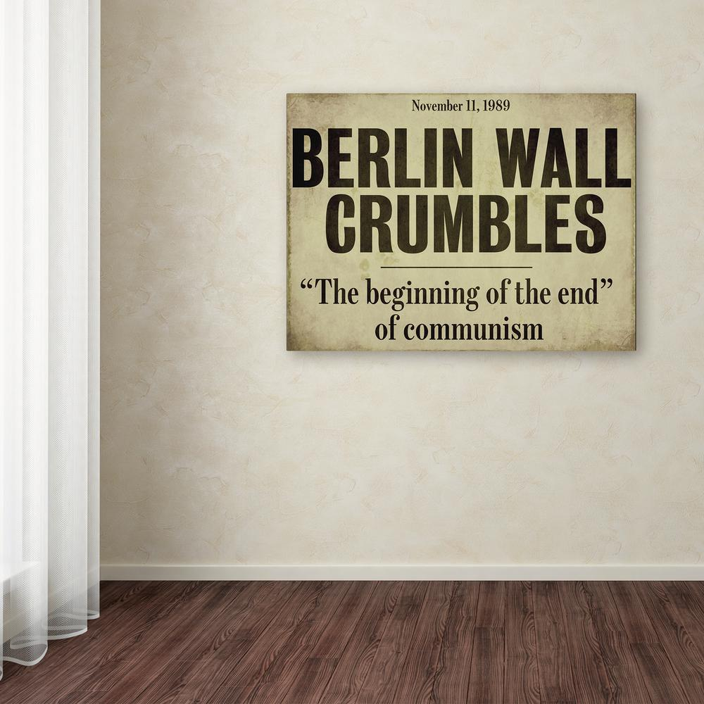 "35 in. x 47 in. ""Berlin Wall"" by Color Bakery Printed"