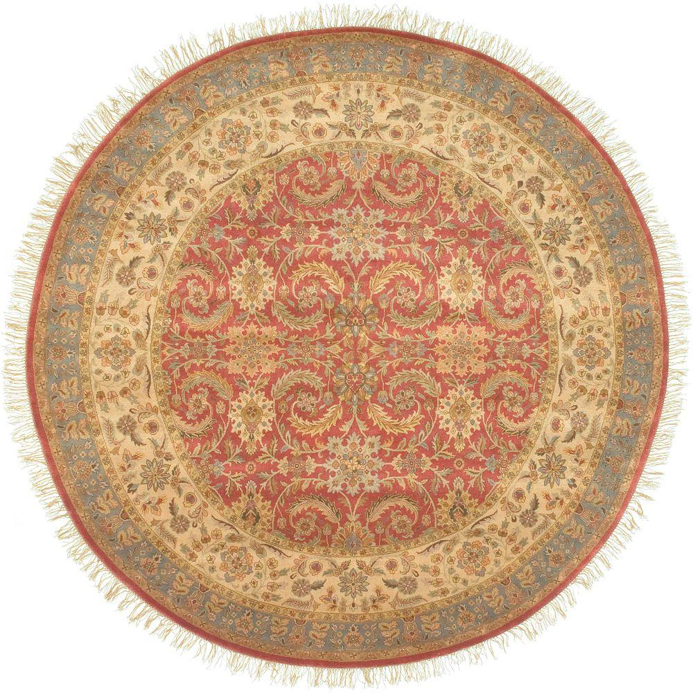 Artistic Weavers Lincoln Cinnamon 8 ft. Round Area Rug-Wahoo-8RD - The