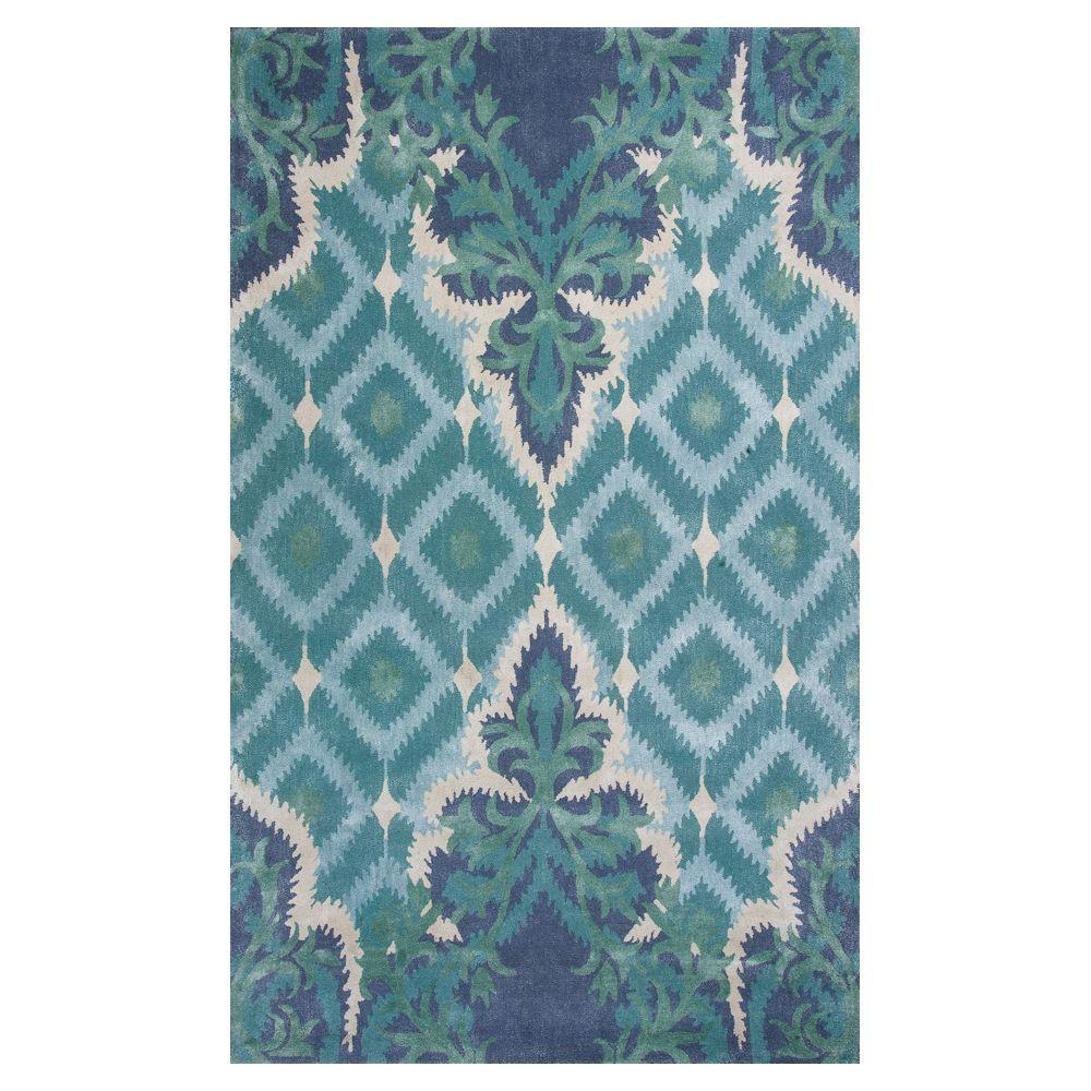 Kas Rugs Bob Mackie Home Blue/Green Opulence 5 ft. x 8