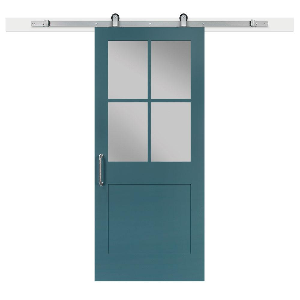 36 in. x 84 in. Pacific 1 Panel 1/2 Lite Privacy