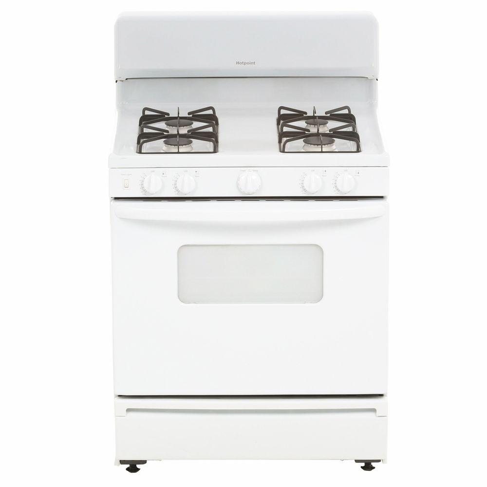 4.8 cu. ft. Gas Range in White