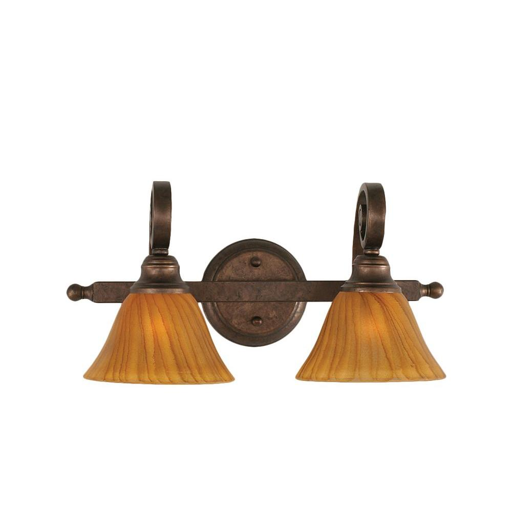 Concord 2-Light Bronze Incandescent Sconce