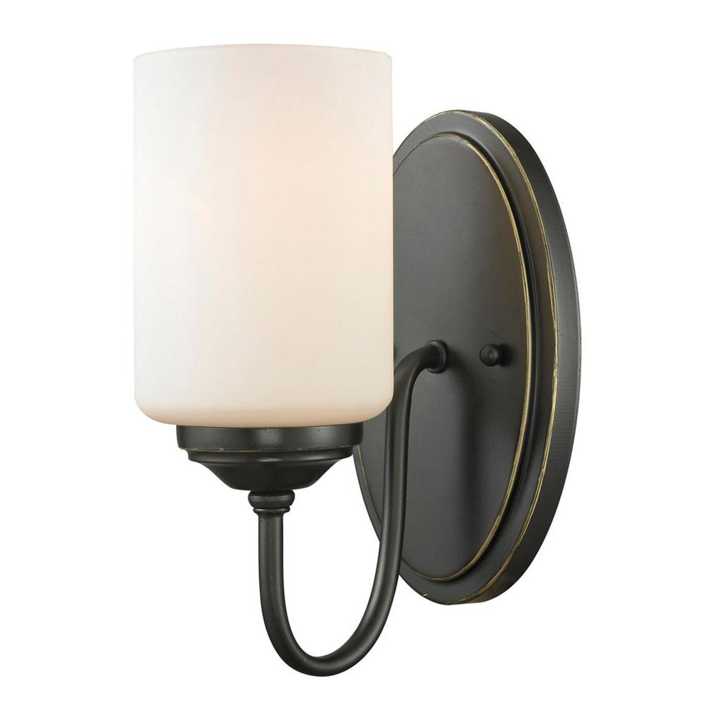 Tetra 1-Light Olde Bronze Sconce