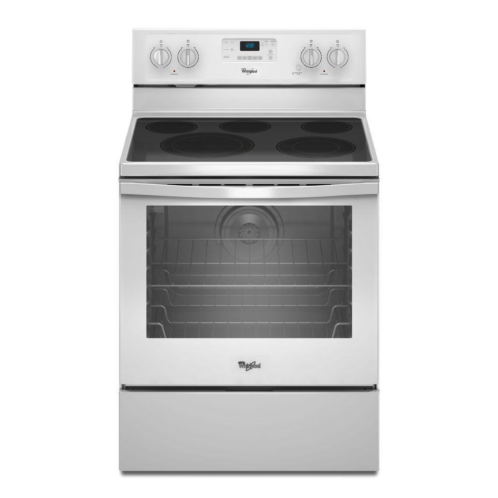 Whirlpool 6.4 cu. ft. Electric Range with Self-Cleaning Convection Oven in White