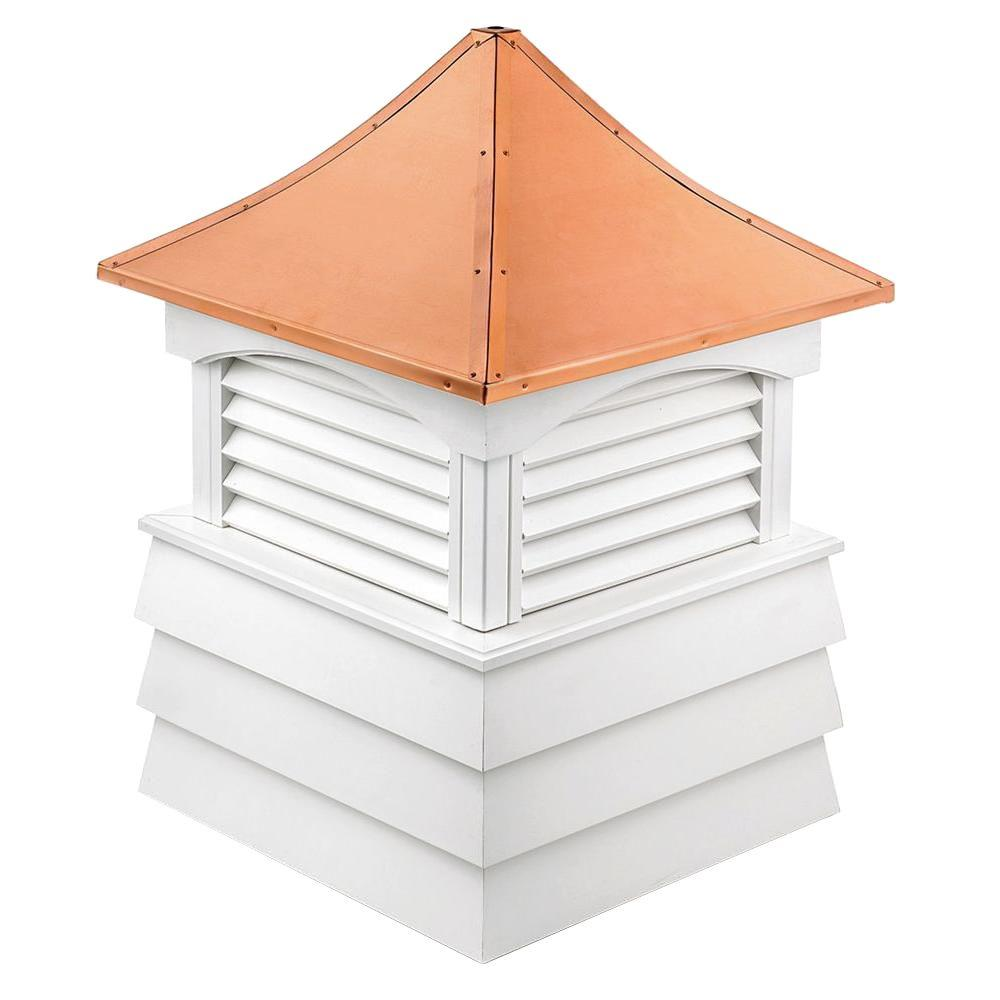 Sherwood Vinyl Cupola with Copper Roof 60 in. x 92 in.