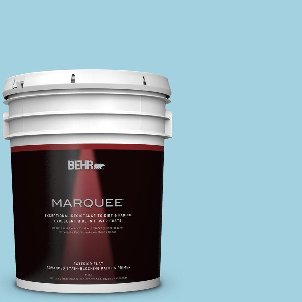 BEHR MARQUEE 5-gal. #M480-3 Bengal Blue Flat Exterior Paint-445005 - The