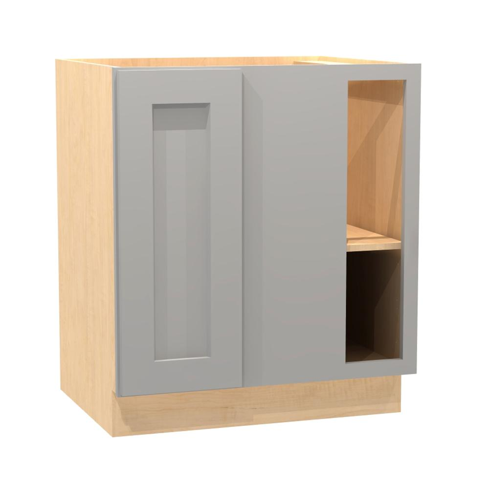 30x34.5x24 in. Tremont Assembled Blind Base Corner Cabinet with 1 Full