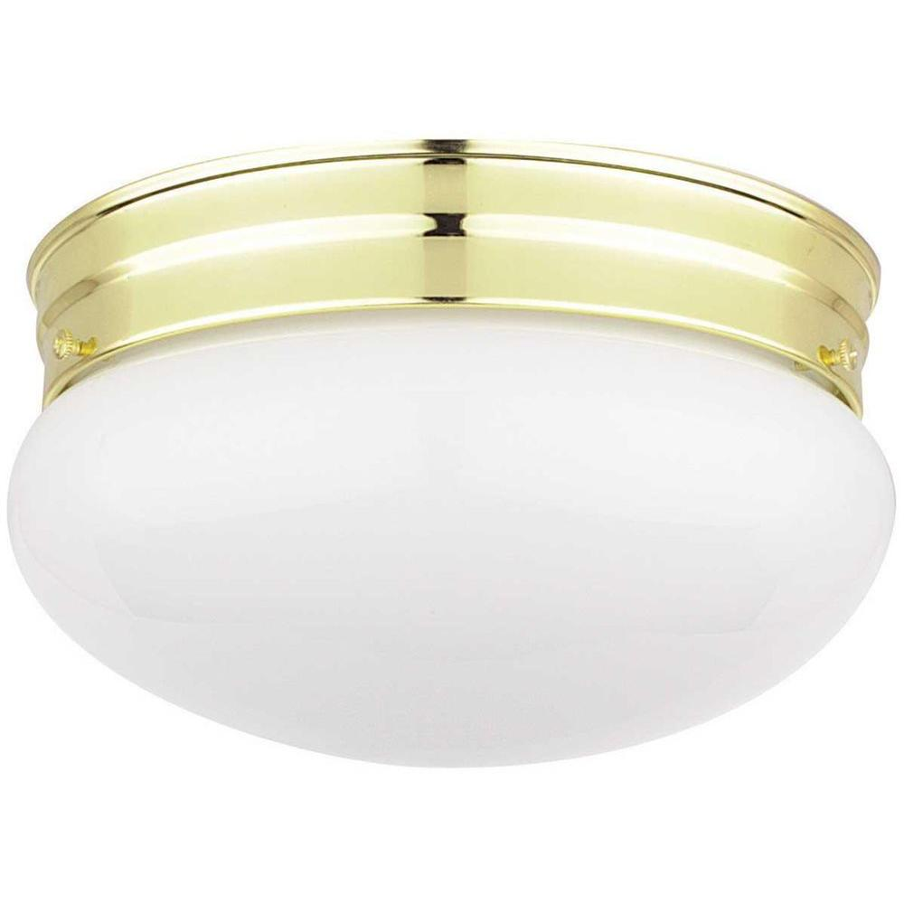 Filament Design Ceiling Mounted Lighting Furby 2-Light Polished Brass Flush Mount CLI-SS225122