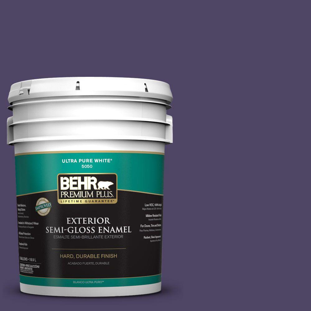 5-gal. #S-H-650 Berry Charm Semi-Gloss Enamel Exterior Paint