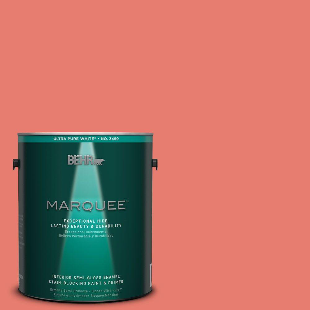 BEHR MARQUEE 1-gal. #HDC-SM14-12 Cosmic Coral Semi-Gloss Enamel Interior Paint