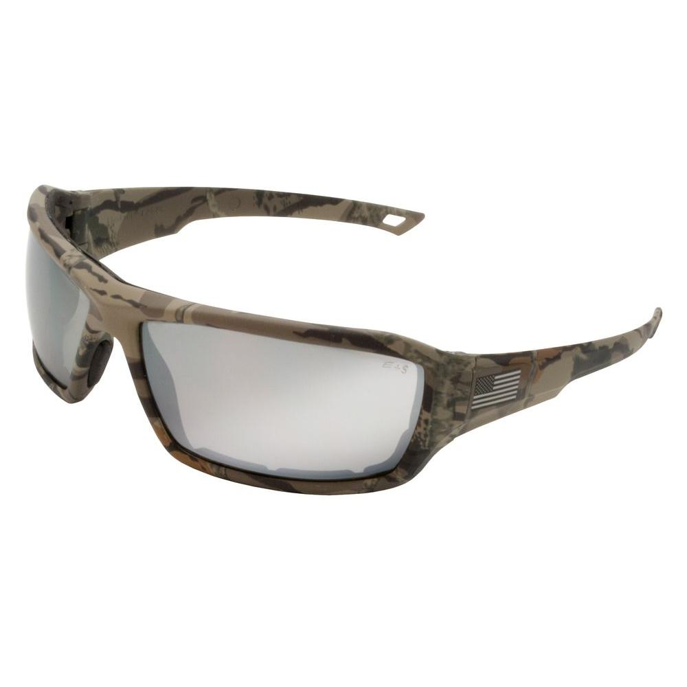 Live Free Camo with Silver Mirror Lens Eye Protection (Retail Box)