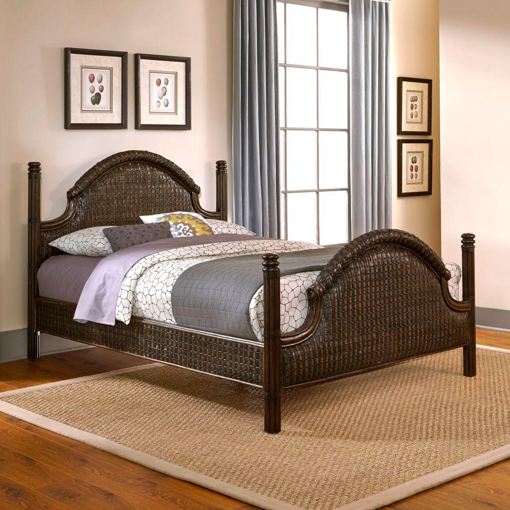 Home Styles Castaway King-Size Bed in Dark Mahogany-5547-600 - The Home